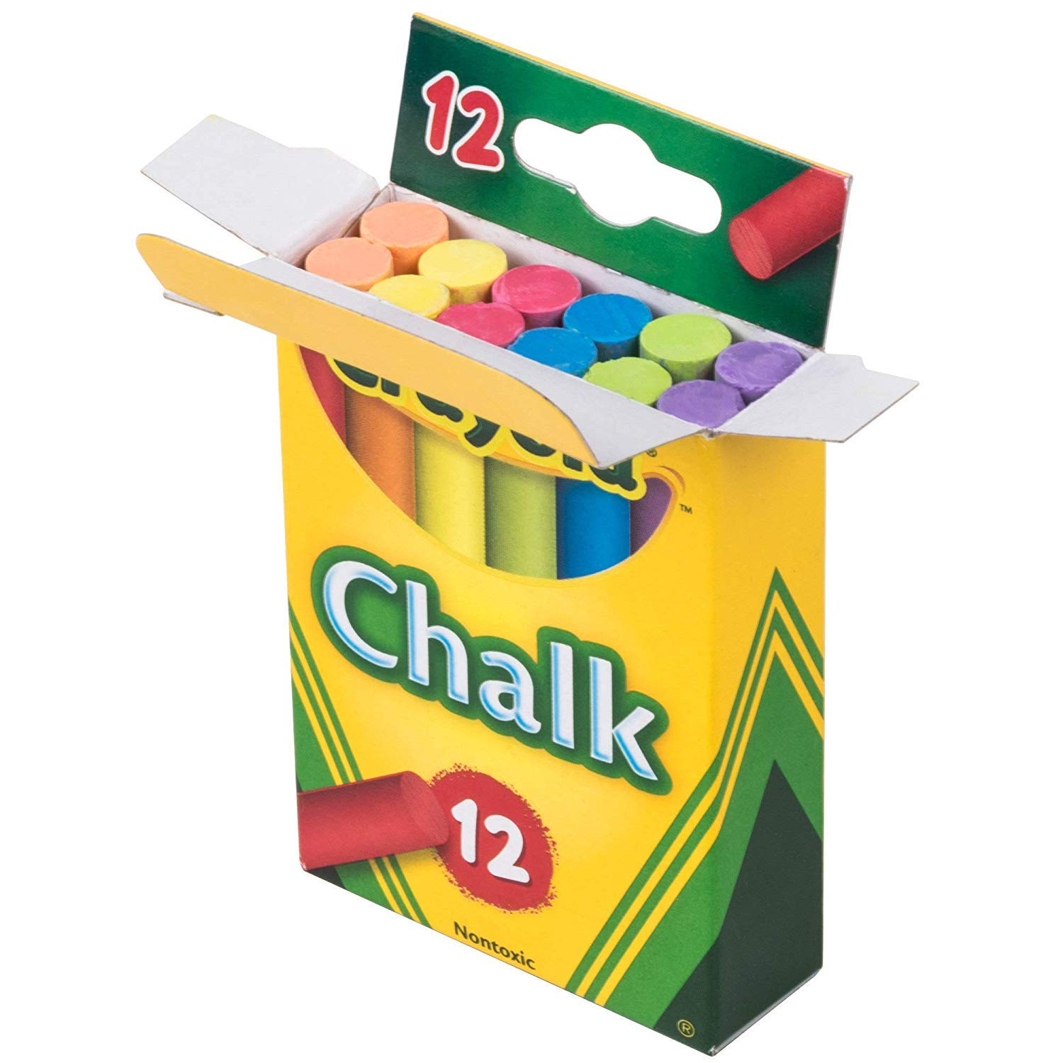 Colored Chalk Sticks 12 Count, 72 PACK