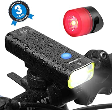 Front Light Taillight Combinations... Ascher Rechargeable LED Bike Lights Set