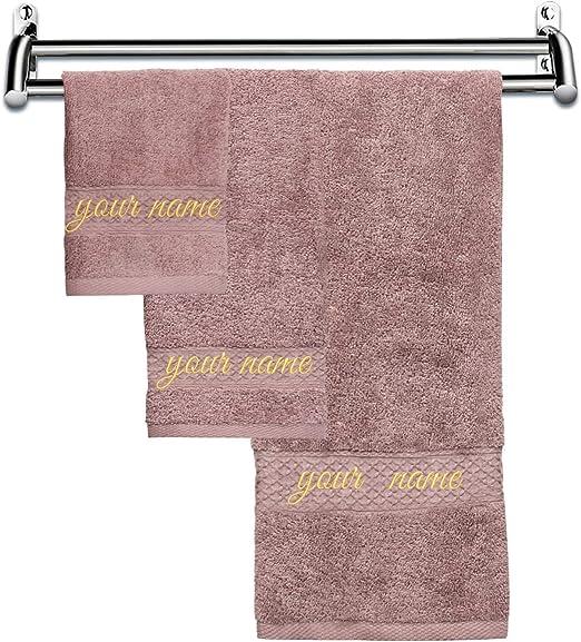 Amazon.com: Monogrammed Hand Towels Custom Bath Towels with Names
