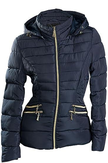 S'West TOP Damen Winter Jacke KURZ STEPP DAUNEN Optik ÜBERGANGJACKE Kapuze Skijacke SML XL XXL