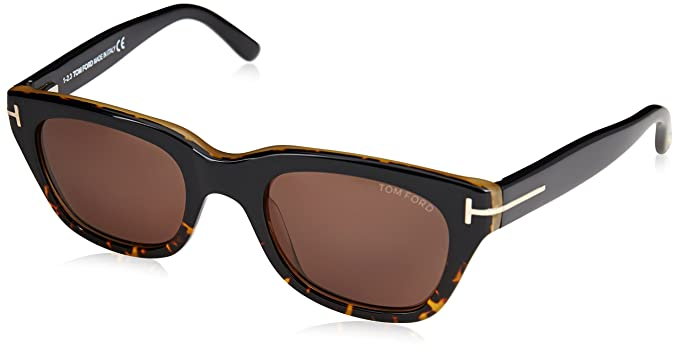 58fb63f9cee Image Unavailable. Image not available for. Colour  Tom Ford Men s Gradient  Snowdon FT0237-05B-50 Brown Square Sunglasses