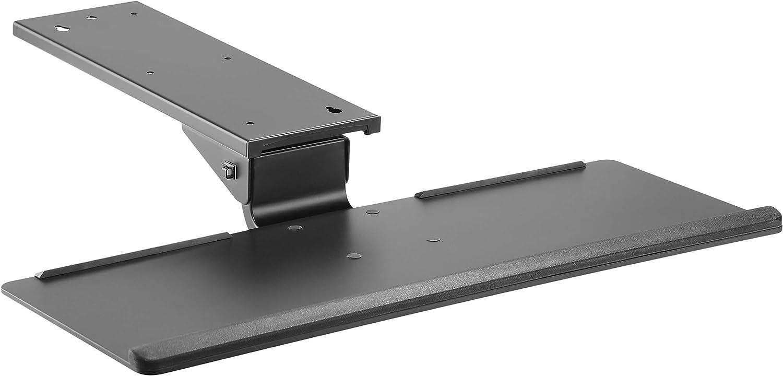 RICOO CZ0300 Tiroir à Clavier Porte-Clavier Ergonomique inclinable Plateau pour Clavier PC sourie Installation sous Bureau Montage sous Table, Noir