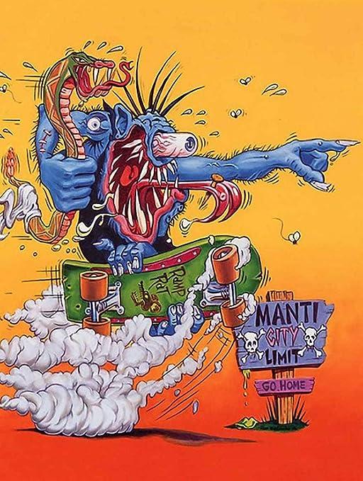 Amazon Com Anbiz Mani City Rat Fink Monster Ed Roth Big