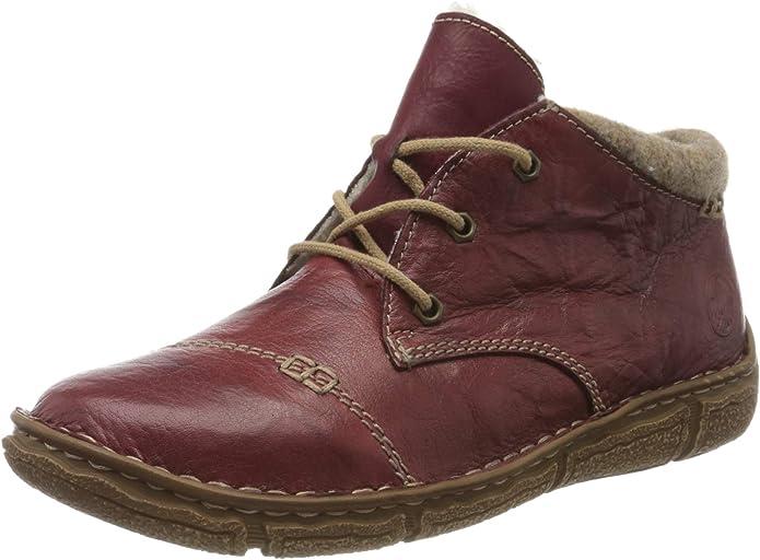 Rieker Ladies' Lace-Up Ankle Boots, L3742 - Red - 36 EU: Amazon.de: Schuhe & Handtaschen