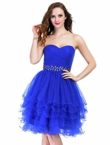 Fashion Plaza Mini Princess Strapless Homecoming Cocktail Party Dress D0235