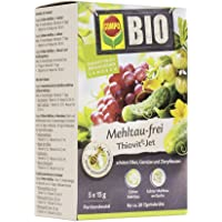 COMPO BIO Mehltau-frei Thiovit-Jet, Kontaktfungizid gegen Echten Mehltau an Obst, Gemüse und Zierpflanzen, 75 g