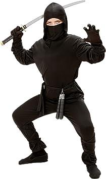 WIDMAN Ninja - Niños Disfraz - Grande - 158cm: Amazon.es ...
