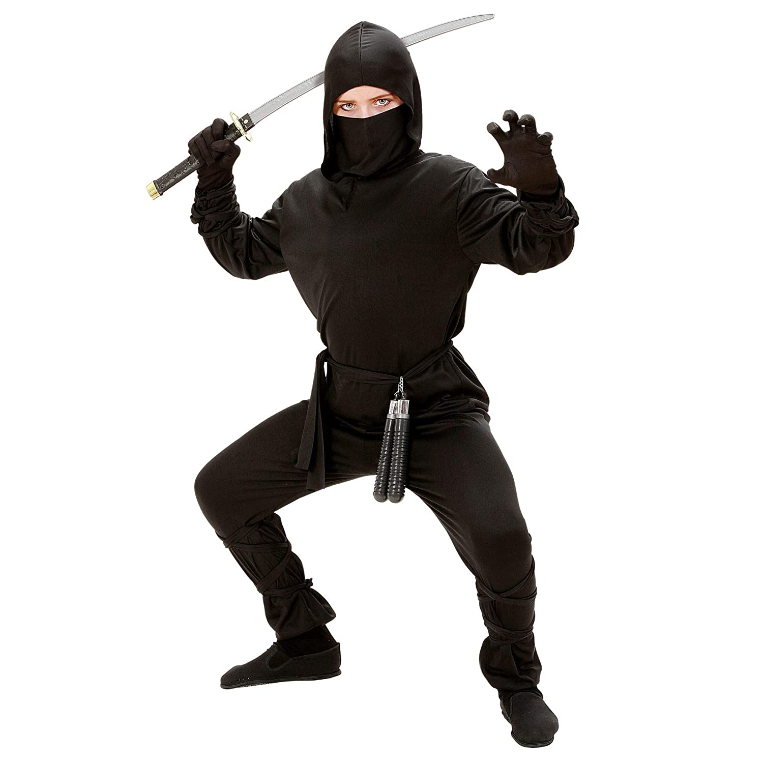 Amazon.com: Childrens Ninja Costume Small 5-7 Yrs (128cm ...