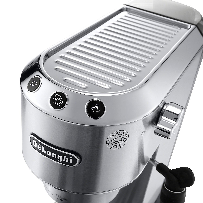 Delonghi Dedica DeLuxe EC685M Ultra Compact Manual Espresso Machine /& Cappuccino Maker Stainless Steel