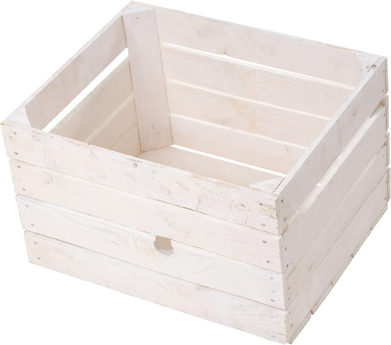 Juego de 3 – Nueva Blanca manzana caja 50 x 40 x 30 cm: Amazon.es ...