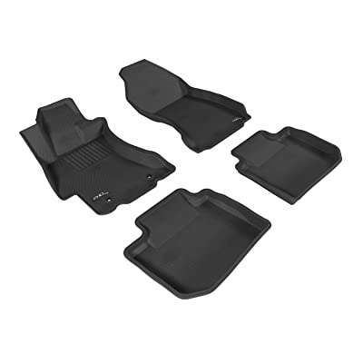 3D MAXpider L1SB02001501 Gray All-Weather Floor Mat for Select Subaru Wry Sit Models Complete Set: Automotive