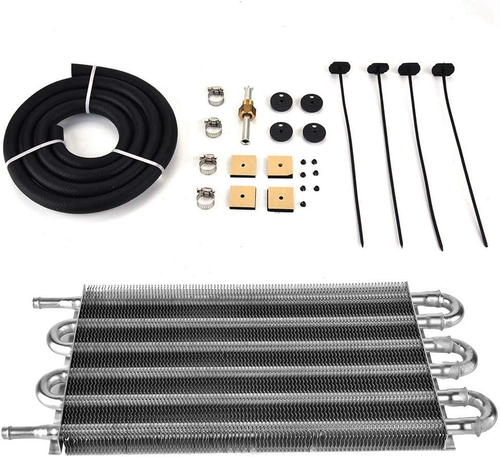 Radiador del Enfriador de Aceite del Coche, Convertidor Auto-Manual del Radiador del Kit del Enfriador de Aceite de la Transmisión Remota de 6 Filas