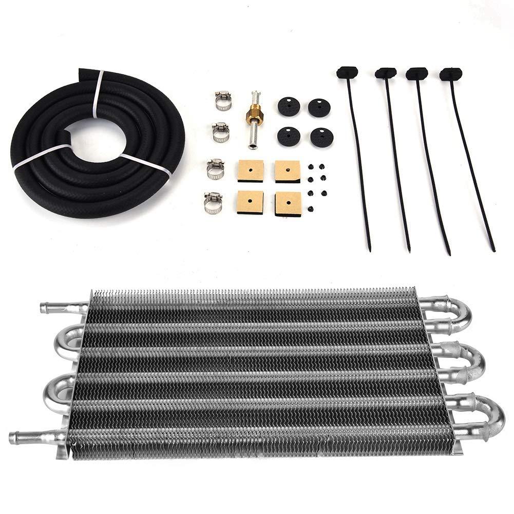 Suuonee Oil Cooler Radiator, Car 6 Row Remote Transmission Oil Cooler Kit Auto-Manual Radiator Converter by Suuonee