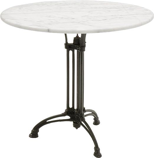 Mesa de jardín mesa mármol Mármol base de mesa blanco fundido ø80 ...