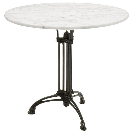 Tavoli In Marmo Da Giardino.Tavolo Da Giardino Rotondo In Marmo E Ghisa Diametro 80 Cm Colore