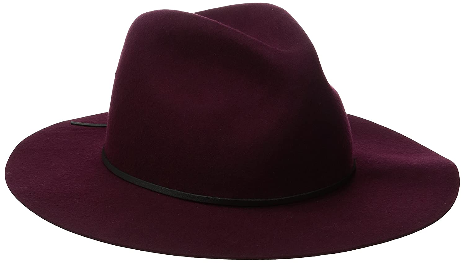 The Dex Wide Brimmed Hat Wool Felt Fedora Coal Young Men's 2319
