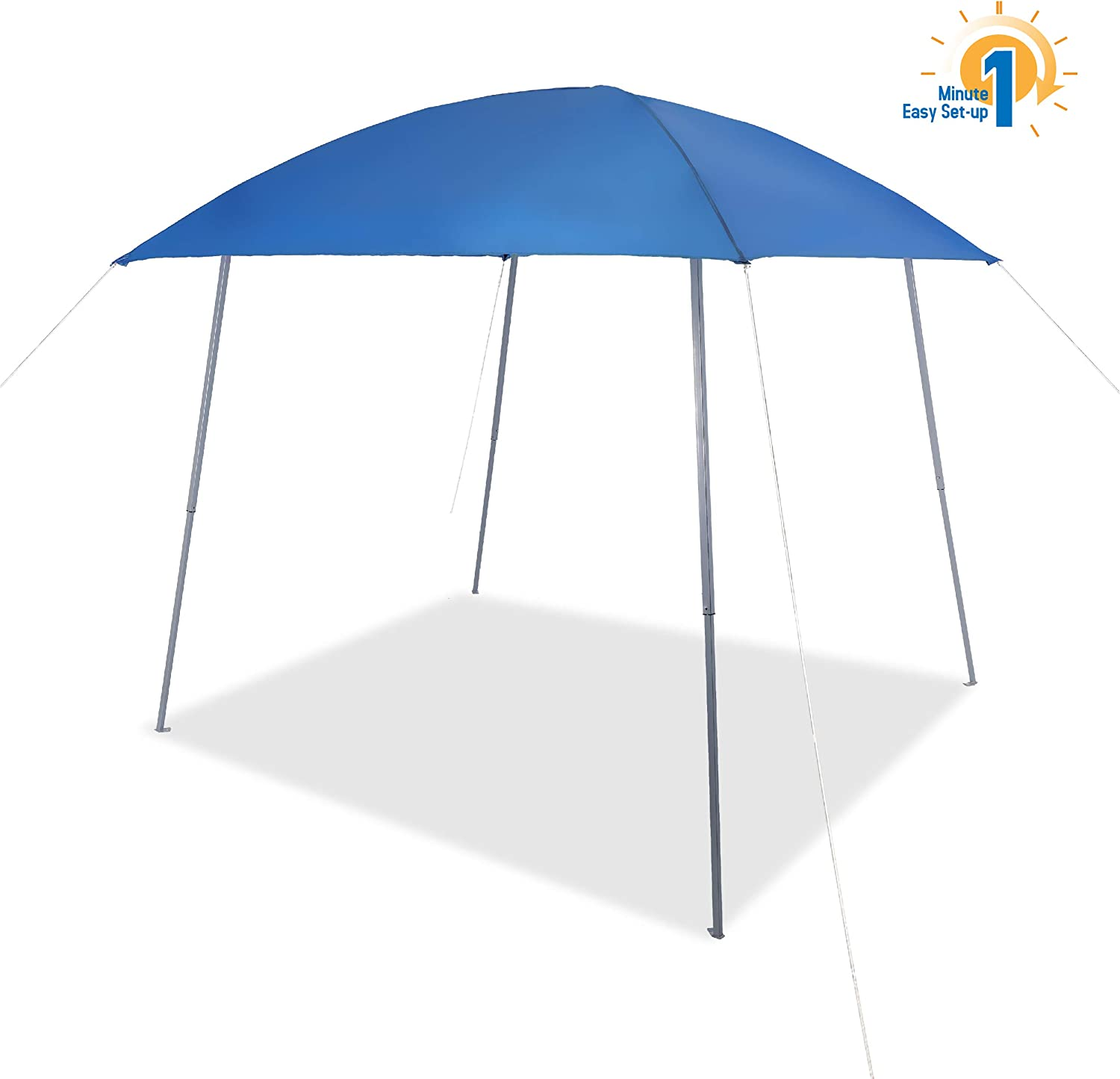 Amazon Com Phi Villa Pop Up Slant Leg Canopy Tent Lightweight For Camping Beach And Sports 8 X 8 Blue Garden Outdoor