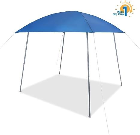 Amazon Com Phi Villa Pop Up Slant Leg Canopy Tent Lightweight For Camping Beach And Sports 8 X 8 Blue Garden Outdoor
