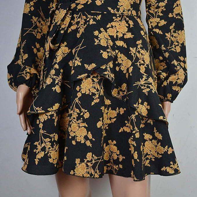 e0f7a8689 POLP Vestidos Cortos Mujer ◉ω◉ Vestido otoño Mujer Casual