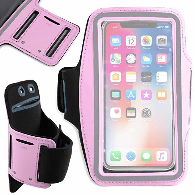 outlet store 05fc1 3ee26 Amazon.com: DURAGADGET Exclusive Unisex Sports Armband in Pink ...
