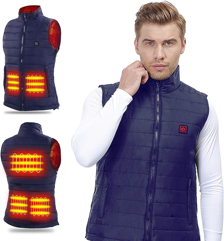 Heated Vest Electric Coat USB Warm Heat Pad Winter Body Warmer Unisex Jacket