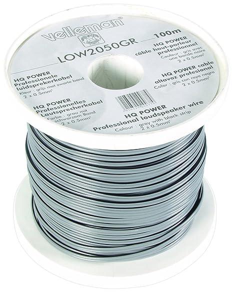 Astounding Velleman Low2050Gr Grey Black Strip Loudspeaker Wire Multi Colour Wiring Digital Resources Sulfshebarightsorg
