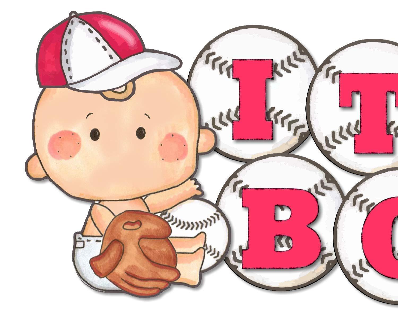 Handmade Products Garland Bunting Baseball Baby Shower Banner ...