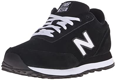 Womens Shoes New Balance Classics WL501 Black/White Suede