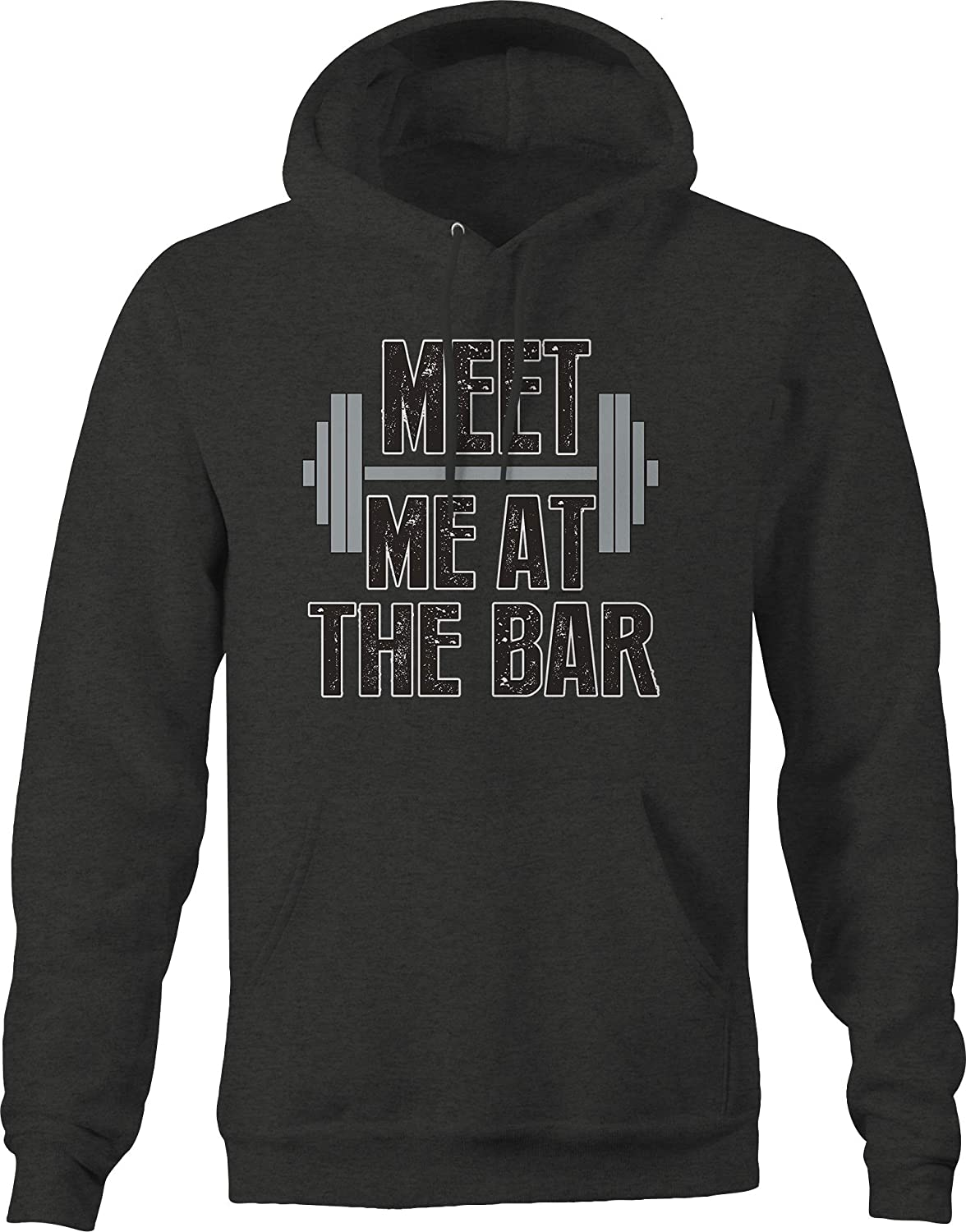 Meet Me at The Bar Weight Lifting Training Health Sweat Strong Hoodies for Men