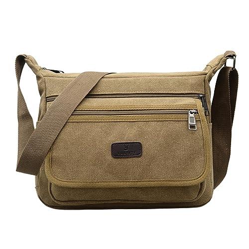 Fabuxry Casual Canvas Shoulder Bags Flap Messenger Bag Cross Body Handbags  Purses Khaki  Handbags  Amazon.com 4065ac9700c1c