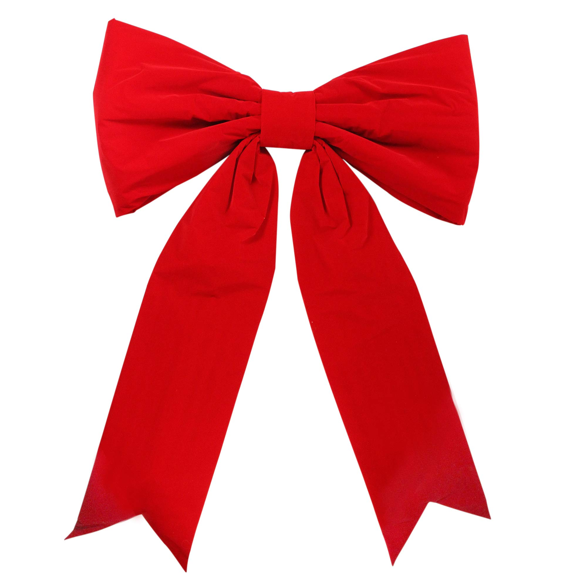 Northlight 43'' x 64'' Giant Commercial 2-Loop Red Velveteen Christmas Bow Decoration