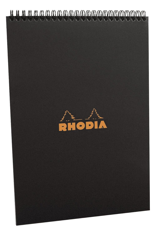 Rhodia Wirebound Pad - A4 (8.25 x 11.75 inches) - Grid, Black EXACLAIR INC. 185009C