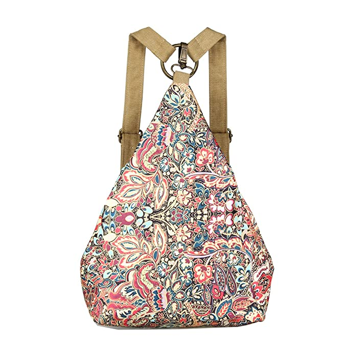 Black Butterfly Original Women's Bohemia National Style Canvas Backpack Shoulder Bag (small), a
