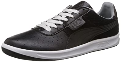 Puma Men s G. Vilas Urban Statement Black and Limestone Grey Leather  Sneakers - 7 UK e203610ddb4a