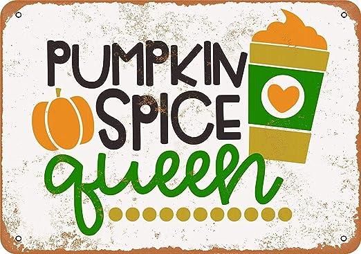Kia Haop Pumpkin Spice Queen Metal Fender Cartel De Chapa ...