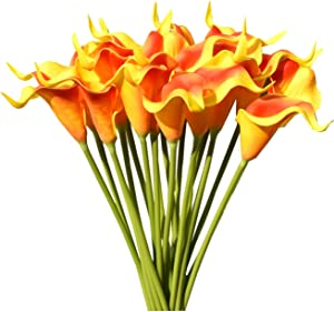 Mandy's 20pcs Sunset Artificial Calla Lily Flowers 13.4