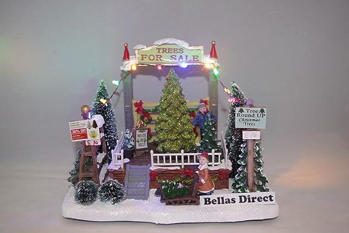 c030753a69a Escena de la aldea Navidad LED iluminan la ciudad decoración adorno de árbol  para la venta