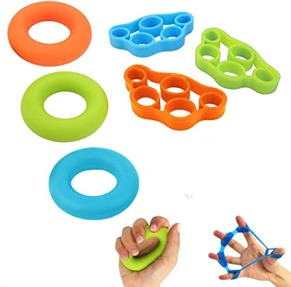 GFEU Anillo de silicona para entrenamiento de dedos y agarre ...