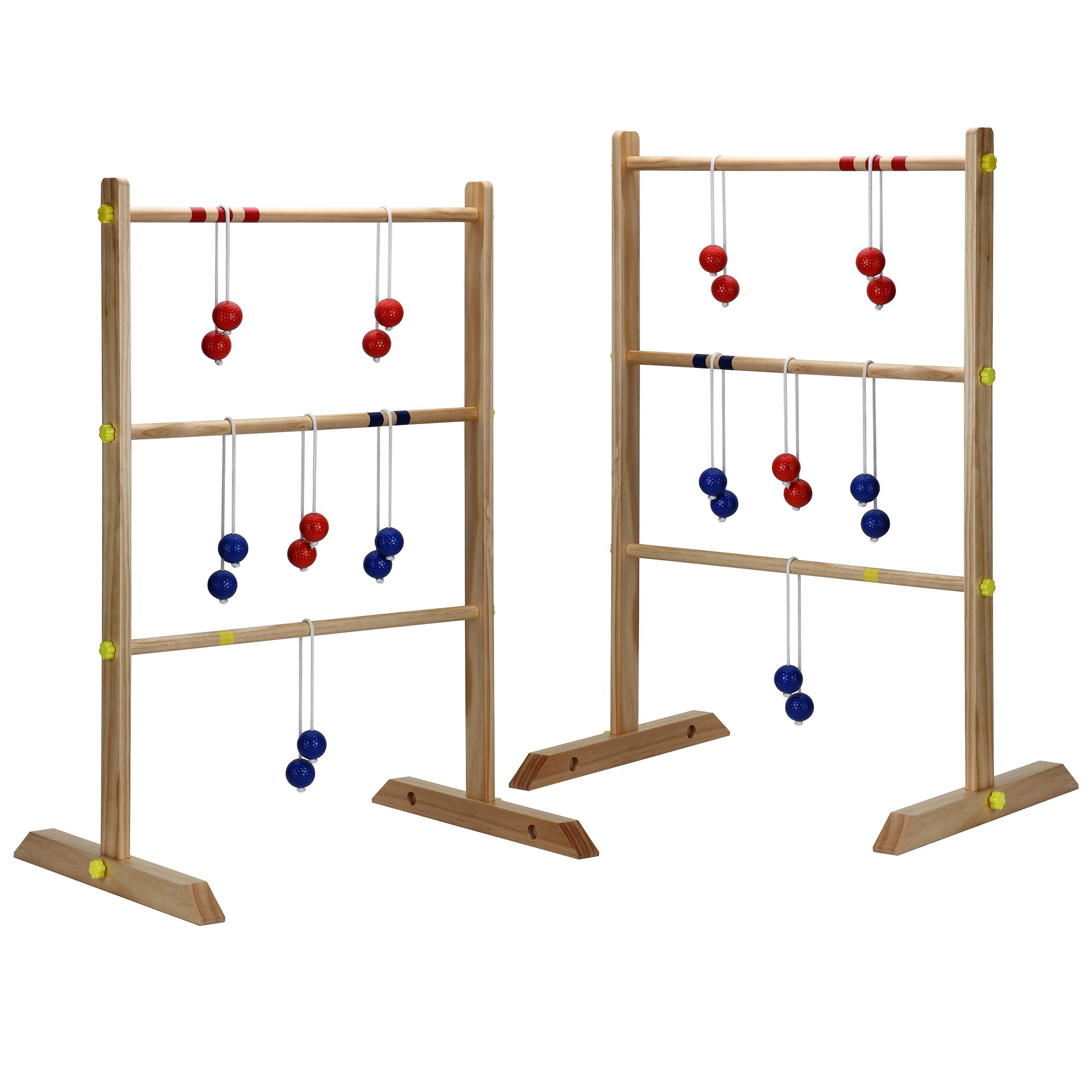 Hathaway Solid Wood Ladder Toss Game Set Brown by Hathaway