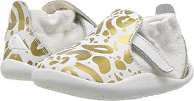 Bobux Kids Baby Girl s Step Up Xplorer Abstract (Infant Toddler) Gold White 610972309
