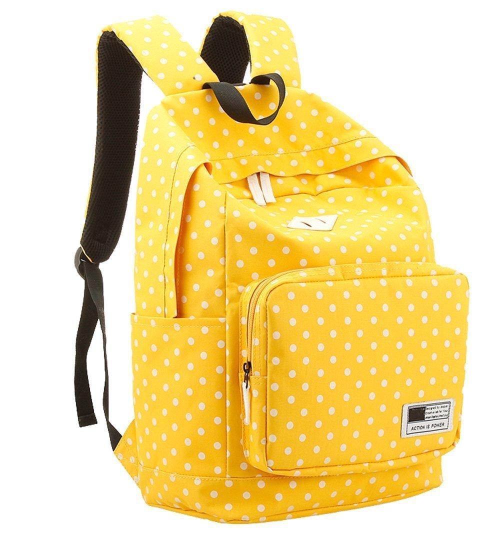 chic Brotechno Teen Girl s Vintage Cute Polka Dot Backpack School Book  Campus Bag Teen Girl s Vintage Cute Polka Dot Backpack School Book Campus  Bag Laptop ... a12726fd89