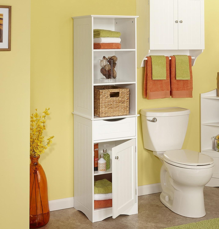 Amazon.com: RiverRidge Ashland Collection - Tall Cabinet - White ...