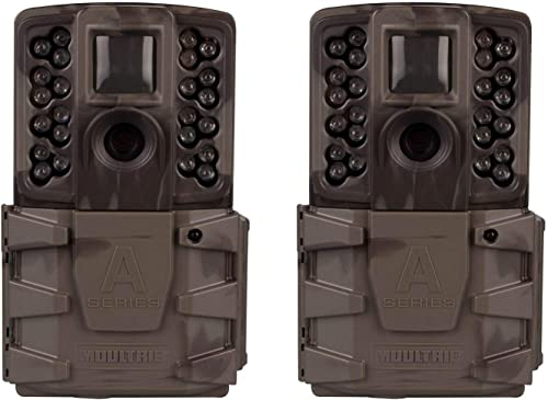 Moultrie A-40 Pro 14MP Low Glow Long Range Infrared Game Trail Camera 2 Pack