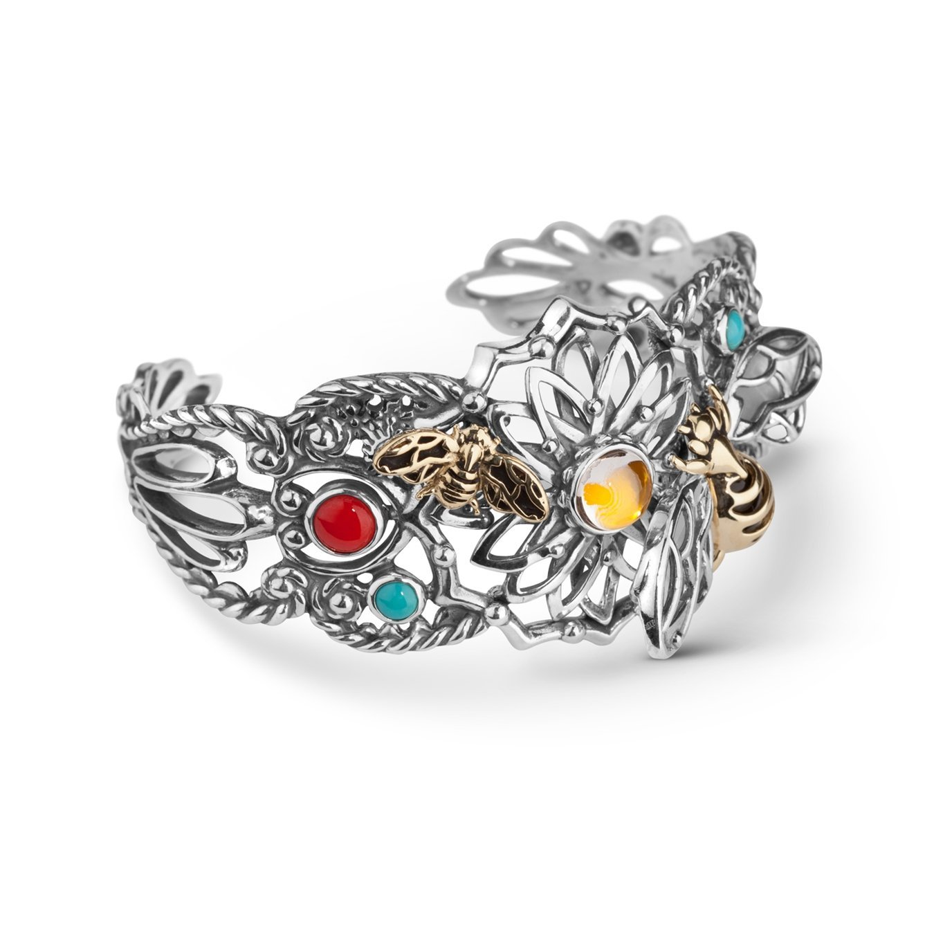 Fritz Casuse Mixed Metal Bumblebee Bracelet