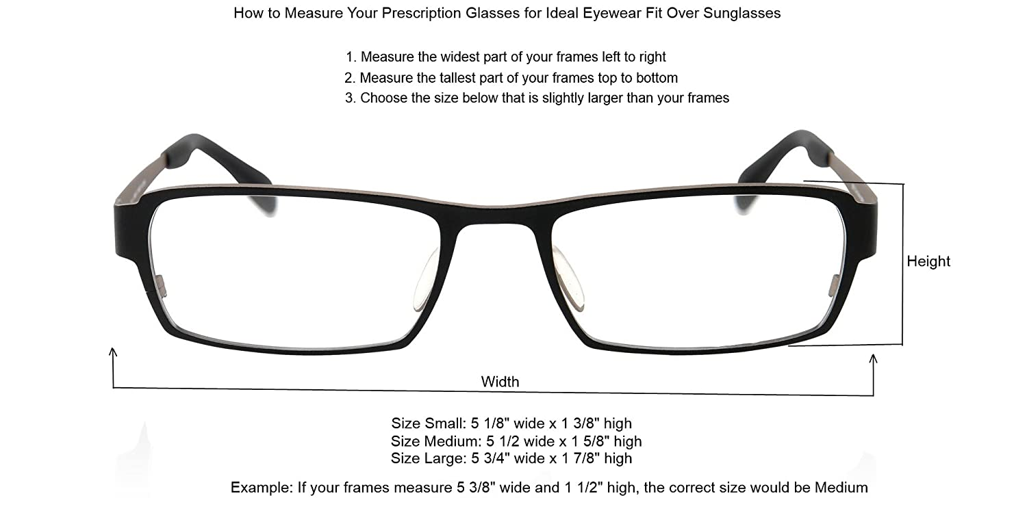 how to measure for sunglasses  Amazon.com: Sun Shield Fit Over Sunglasses with Polarized Lenses ...