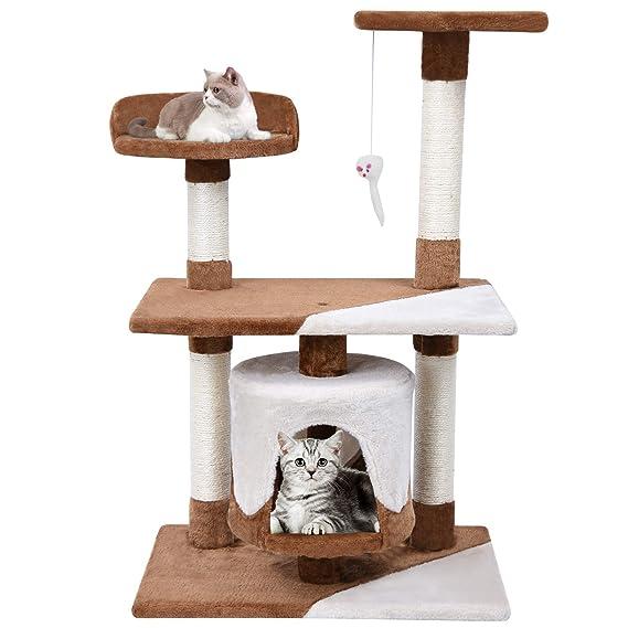 MC Star Árbol para Gato con Rascador de 95cm,Arañazo Juguete de Gatos de Sisal Natural,Marrón y Beige: Amazon.es: Productos para mascotas