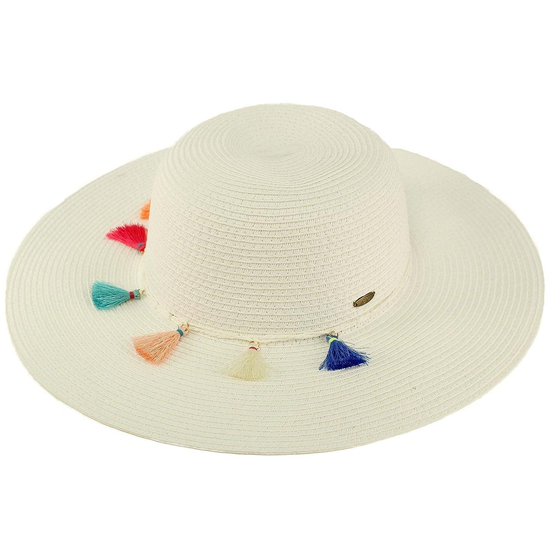 C.C Fun Tassels Hatband Floppy Wide Brim 4