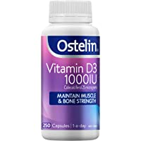 Ostelin Vitamin D3 1000IU, Maintains Bone and Muscle Strength, Helps Boost Calcium Absorption, 250 capsules