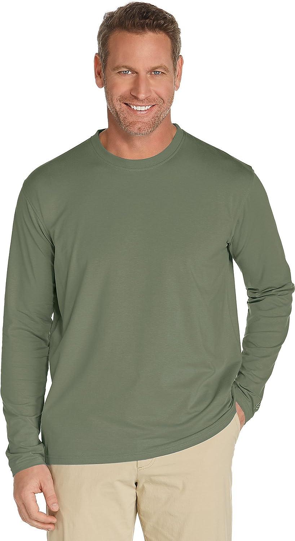 Coolibar UPF 50+ メンズ長袖Tシャツ 日焼け防止 B01MDSDEKB M|オリーブグリーン オリーブグリーン M