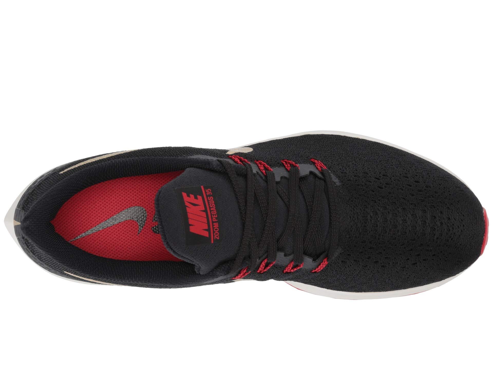 Nike Air Zoom Pegasus 35 Sz 6.5 Mens Running Black/Metallic Gold-University Red Shoes by Nike (Image #9)